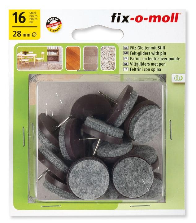 Piedini di feltro con chiodo 4 mm / Ø 28 mm 16 x Fix-O-Moll 607070400000 N. figura 1