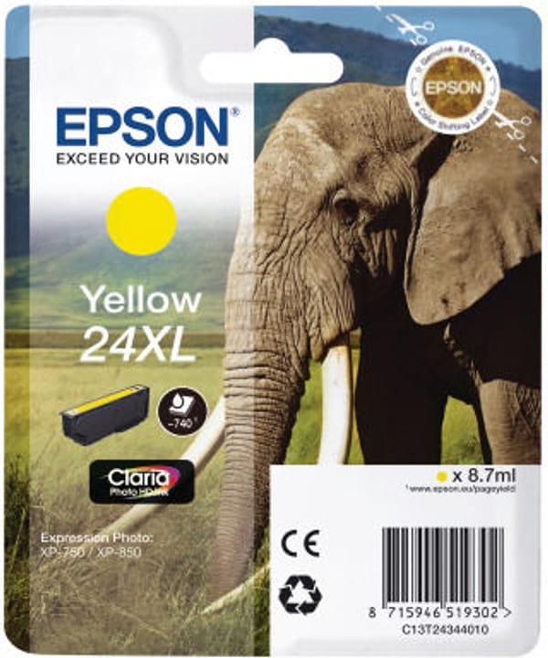 24XL gelb Tintenpatrone Epson 798553500000 Bild Nr. 1
