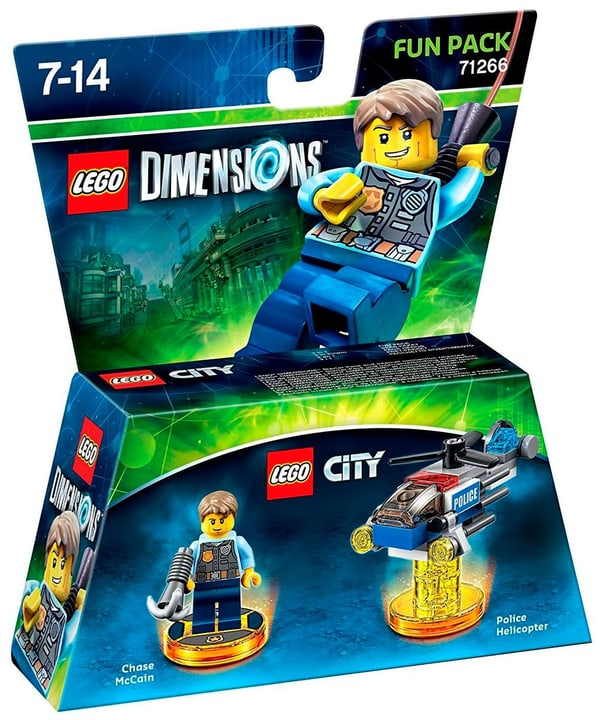 LEGO Dimensions Fun Pack - LEGO City Chase McCain Physique (Box) 785300122143 Photo no. 1