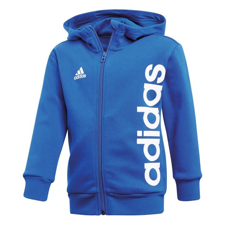 Little Kids Full Zip Hoodie Veste à capuche pour garçon Adidas 472337610440 Couleur bleu Taille 104 Photo no. 1