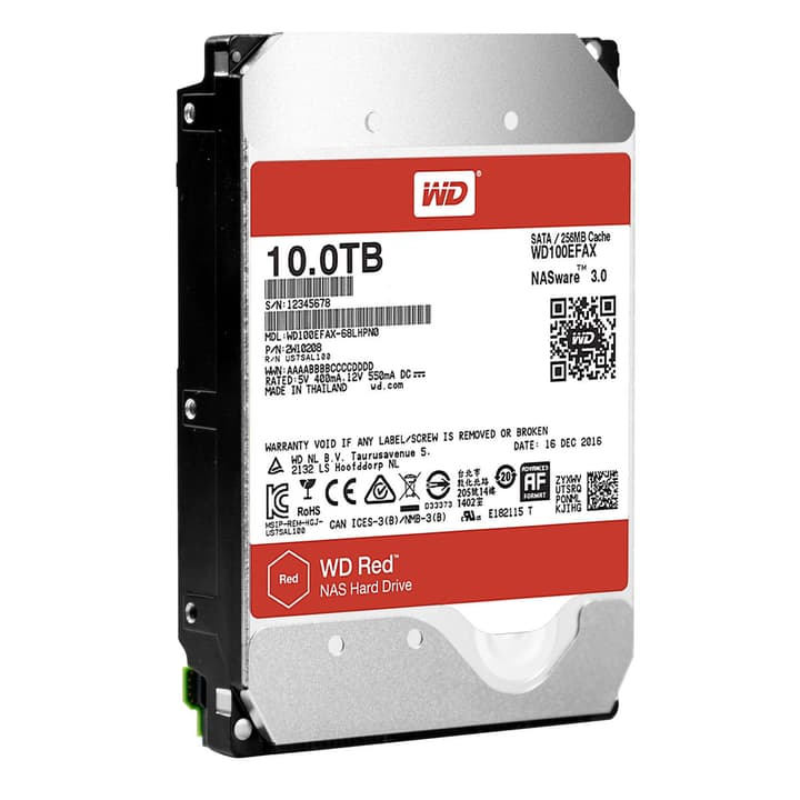 Red 10To NAS SATA HDD NAS Western Digital 785300128645 Photo no. 1