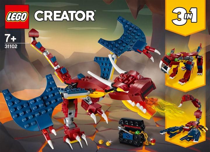 LEGO Creator 31102 Feuerdrache LEGO Creator 31102 Drago del fuoco 748733100000 Bild Nr. 1