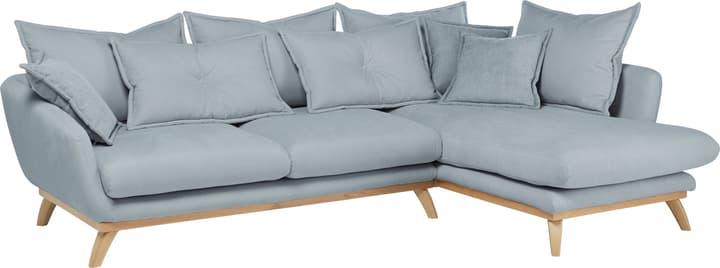 AMSEL Canapé d'angle 405735150041 Couleur Bleu clair Dimensions L: 275.0 cm x P: 180.0 cm x H: 67.0 cm Photo no. 1