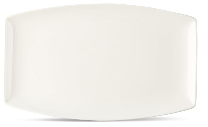 FINE LINE Servierplatte 22.5x14cm Cucina & Tavola 700160800009 Farbe Weiss Grösse B: 22.5 cm x T: 14.0 cm x H: 2.0 cm Bild Nr. 1