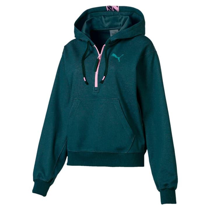 Feel it Cover Up Sweat-shirt à capuche pour femme Puma 464965500363 Couleur vert foncé Taille S Photo no. 1