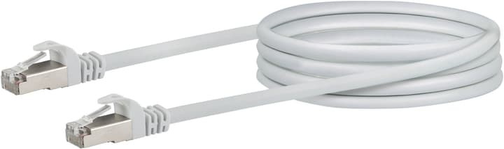 Cable de réseau S/FTP Cat. 6 0.5m blanc Schwaiger 613186900000 Photo no. 1
