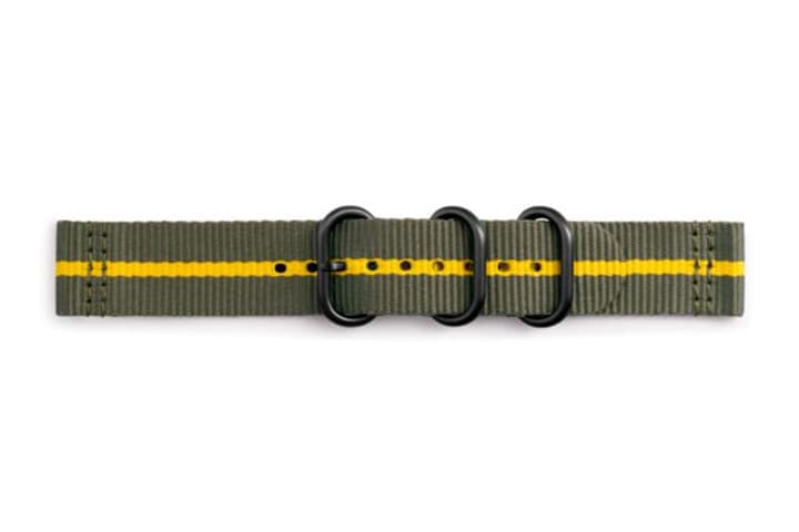 Galaxy Watch (42 mm) Strap Studio Premium Nato Strap 20 mm vert Bracelet Samsung 785300138271 Photo no. 1