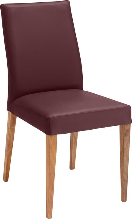 SERRA Chaise 402355600034 Dimensions L: 46.0 cm x P: 57.0 cm x H: 92.0 cm Couleur Bordeaux Photo no. 1