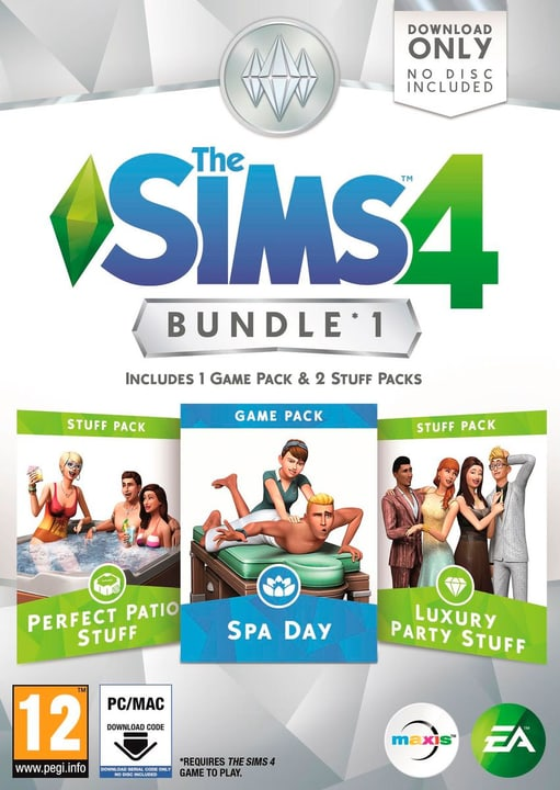 PC/DVD - The Sims 4 Bundle 1 785300120256