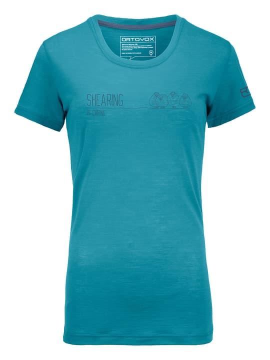 Cool Shearing T-shirt à manches courtes pour femme Ortovox 462782400565 Couleur petrol Taille L Photo no. 1