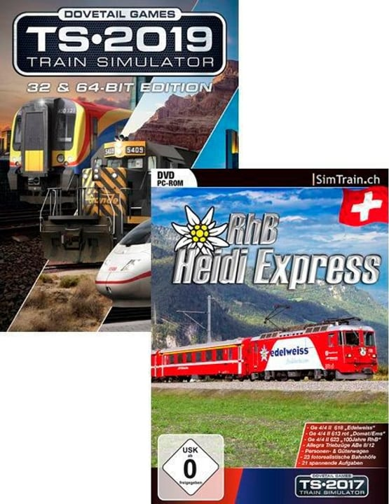 PC - Train Simulator 2019 & RhB Heidi Express Bundle D Box 785300142837 Photo no. 1