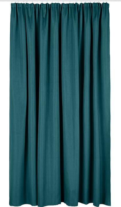 NICOLAS Rideau prêt à poser occultant 430275321844 Couleur Turquoise Dimensions L: 300.0 cm x H: 260.0 cm Photo no. 1