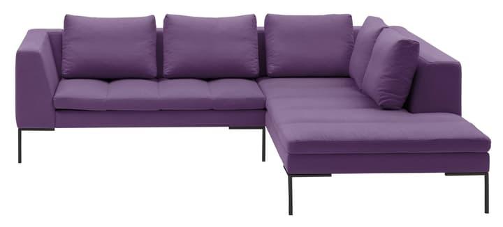 BADER Canapé d'angle 405686450423 Dimensions L: 255.0 cm x P: 230.0 cm x H: 80.0 cm Couleur Violet Photo no. 1