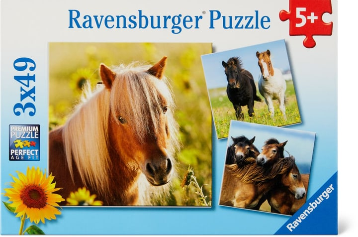 Adorables poneys Ravensburger Puzzle 748977300000 Photo no. 1