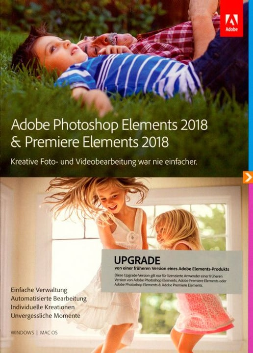 PC/Mac - Photoshop Elements 2018 & Premiere Elements 2018 Upgrade (D) Fisico (Box) Adobe 785300130204 N. figura 1