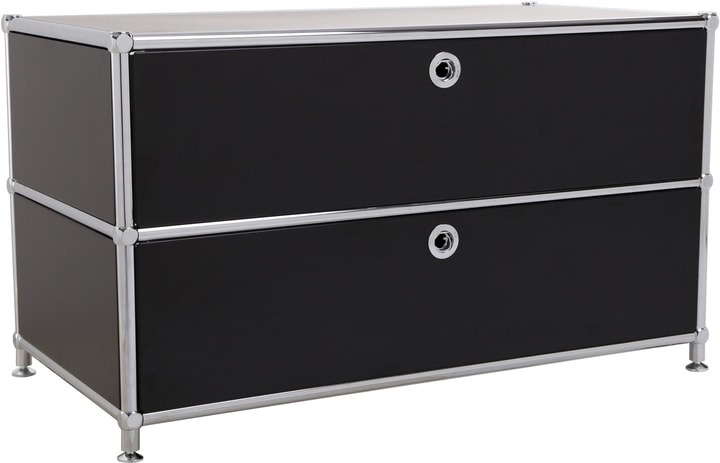 FLEXCUBE Buffet bas 401813610120 Dimensions L: 77.0 cm x P: 40.0 cm x H: 44.5 cm Couleur Noir Photo no. 1
