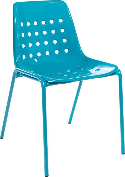 BERMUDA Chaise Schaffner 408027300044 Couleur Turquoise Dimensions L: 53.0 cm x P: 48.5 cm x H: 80.0 cm Photo no. 1