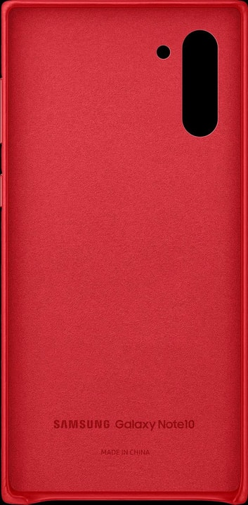 Leather Cover red Coque Samsung 785300146391 Photo no. 1