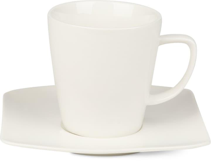 FINE LINE Kaffeetasse mit Unterteller Cucina & Tavola 700160800002 Farbe Weiss Grösse B: 14.0 cm x H: 10.0 cm Bild Nr. 1