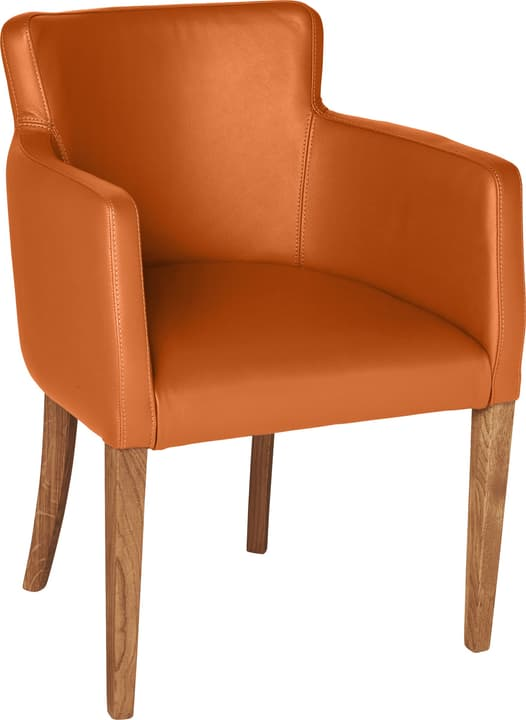 MORISANO Chaise 402358200057 Dimensions L: 56.0 cm x P: 46.0 cm x H: 79.0 cm Couleur Orange Photo no. 1