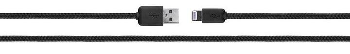 Cotton Cable Lightning 1,8m schwarz Kabel XQISIT 798054900000 Bild Nr. 1