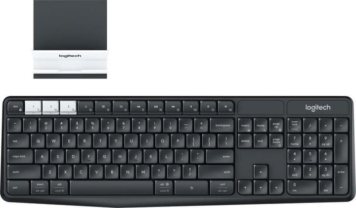Multi-Device Tastatur K375s kabellos mit Halterung Logitech 798237200000 Bild Nr. 1