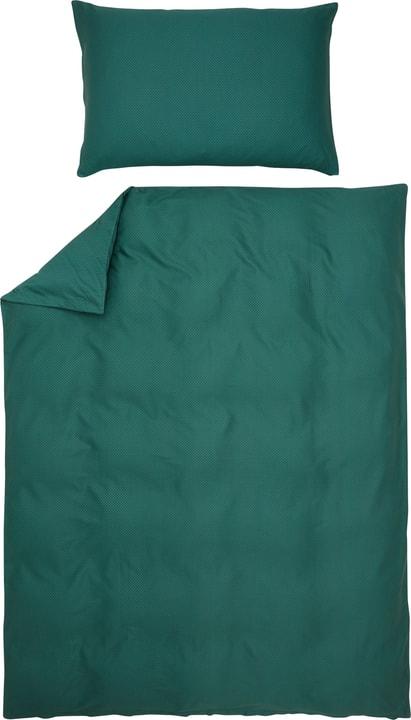 FABIAN Federa per piumino percalle 451289912360 Colore verde scuro Dimensioni L: 160.0 cm x A: 210.0 cm N. figura 1