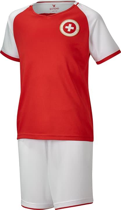 Set de supporter de foot pour enfants Schweiz / Suisse / Svizzera Extend 464556212330 Colore rosso Taglie 122/128 N. figura 1