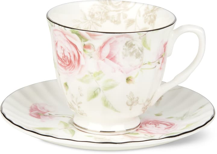 BLOSSOM Kaffeetasse mit Unterteller Cucina & Tavola 700160600001 Grösse B: 14.5 cm x H: 9.5 cm Farbe Rosa Bild Nr. 1