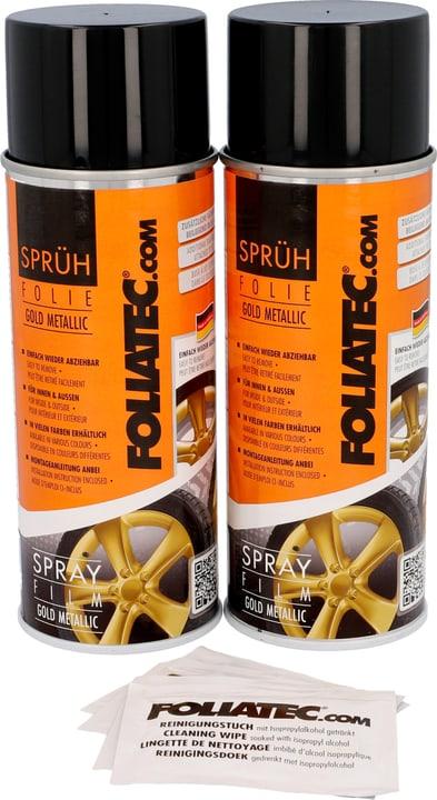 Pellicola Spray oro metallic 400 ml 2pz Spray per cerchioni FOLIATEC 620283500000 N. figura 1