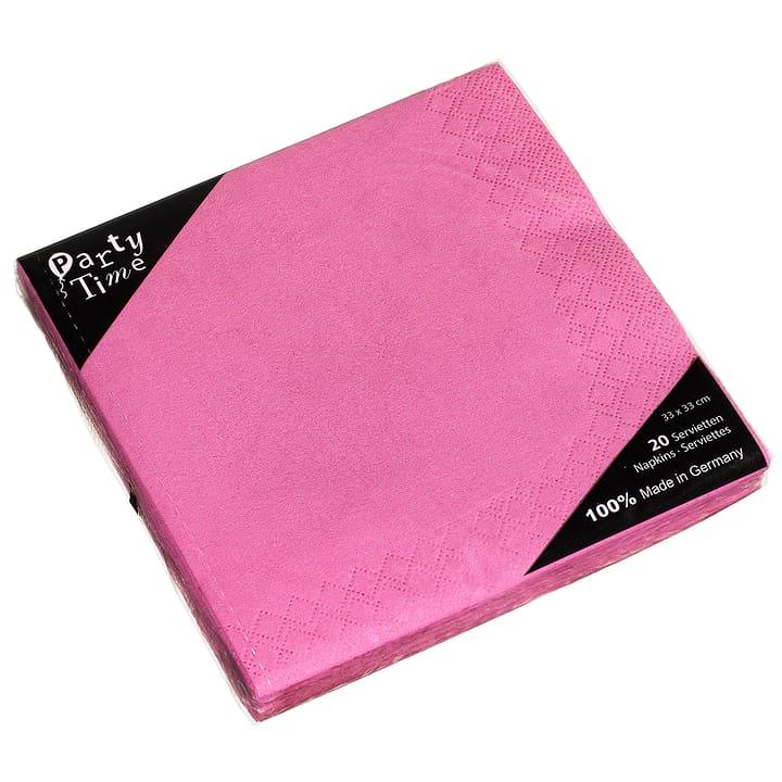 PAPER Serviettes en papier 440267300036 Couleur Pink Dimensions L: 33.0 cm x P: 33.0 cm x H:  Photo no. 1