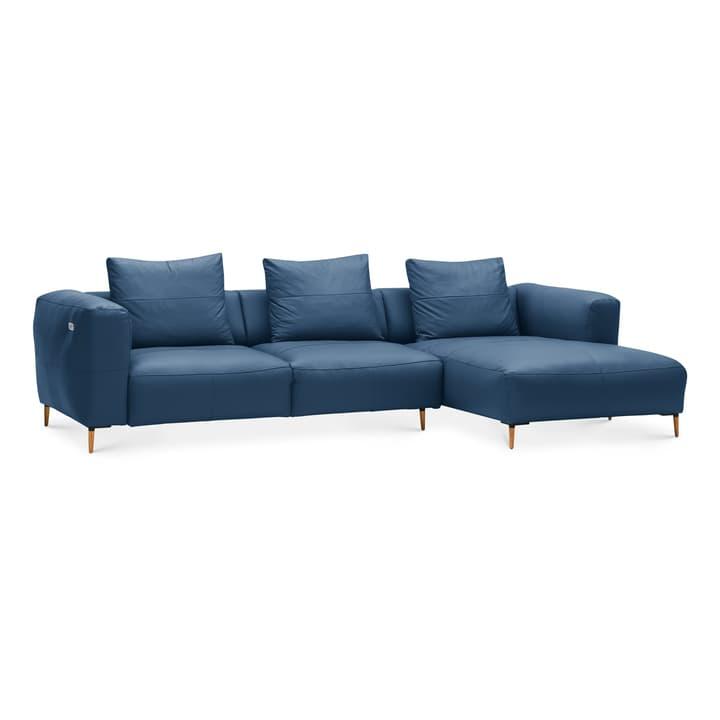 LOUIE Canapé d'angle 360512773740 Dimensions L: 299.0 cm x P: 170.0 cm x H: 69.0 cm Couleur Bleu Photo no. 1