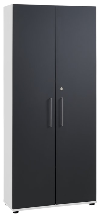 CONCEPT X Armoire 401819800000 Dimensions L: 82.5 cm x P: 35.0 cm x H: 189.8 cm Couleur Blanc / anthracite Photo no. 1