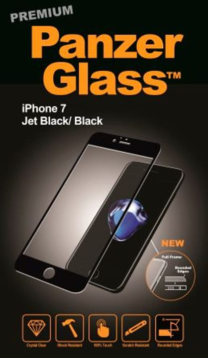 Premium for iPhone 7 noir Panzerglass 798065800000 Photo no. 1