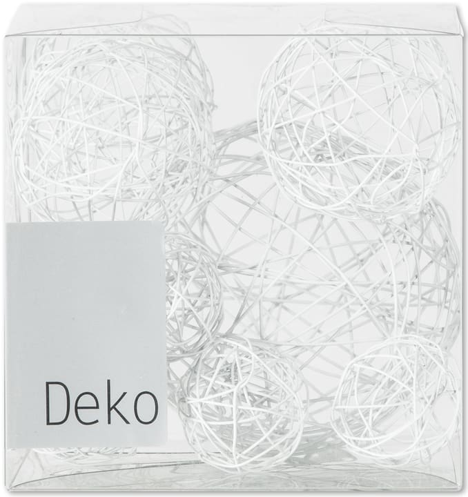 Deko Drahtbälle, 10-tlg Do it + Garden 655870300000 Farbe Weiss Grösse B: 10.0 cm x T: 10.0 cm x H: 10.0 cm Bild Nr. 1