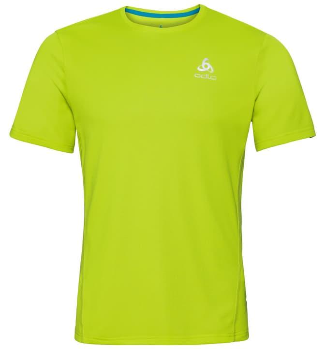SLIQ BL Top Crew neck s/s Herren-T-Shirt Odlo 470157300466 Farbe limegrün Grösse M Bild-Nr. 1