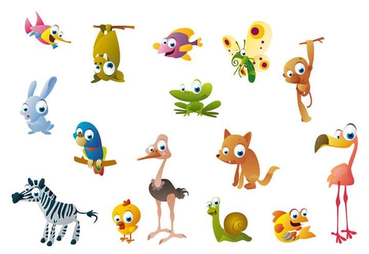 ANIMALS Sticker 433001001100 Grösse B: 200.0 cm x T: 40.0 cm x H:  Bild Nr. 1