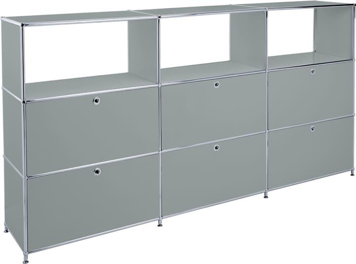 FLEXCUBE Highboard 401814930380 Grösse B: 227.0 cm x T: 40.0 cm x H: 118.0 cm Farbe Grau Bild Nr. 1