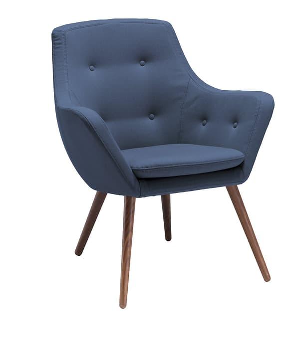 FLORIN Fauteuil (noyer) 402441107040 Dimensions L: 73.0 cm x P: 70.0 cm x H: 82.0 cm Couleur Bleu Photo no. 1