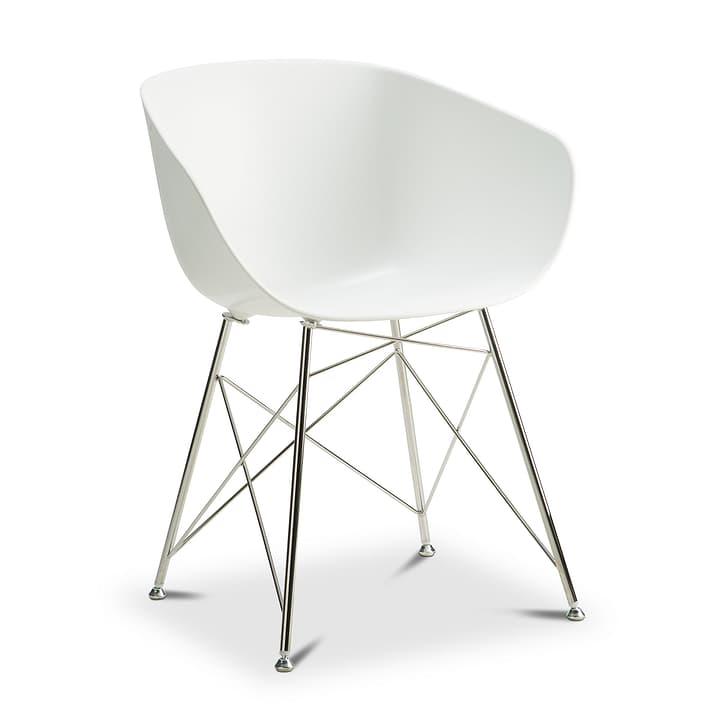 SEDIA Stuhl mit Armlehne 366168700000 Farbe Weiss Grösse B: 45.0 cm x T: 58.0 cm x H: 81.0 cm Bild Nr. 1