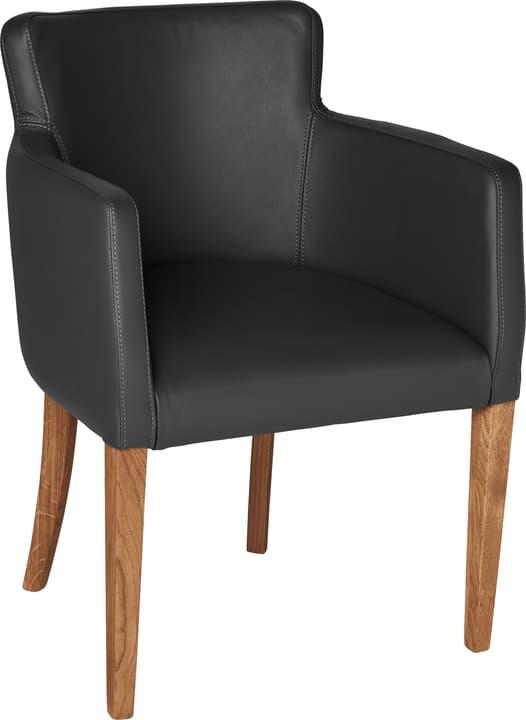 MORISANO Chaise 402358200020 Dimensions L: 56.0 cm x P: 46.0 cm x H: 79.0 cm Couleur Noir Photo no. 1