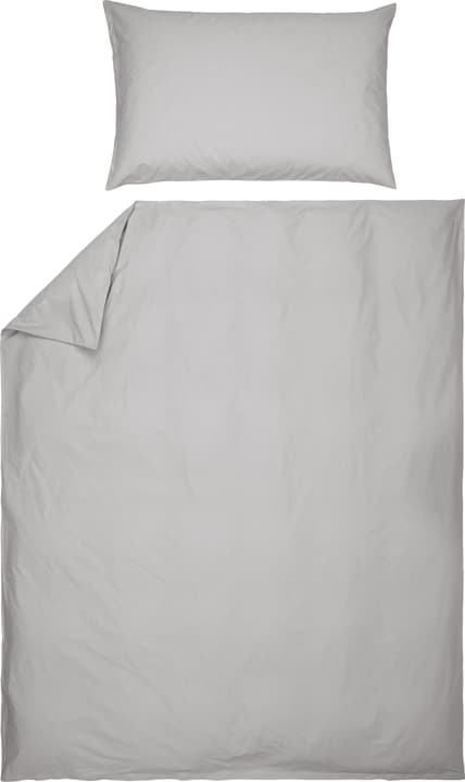 ROMANO Fourre de duvet en percale 451192612381 Couleur Gris clair Dimensions L: 160.0 cm x H: 210.0 cm Photo no. 1