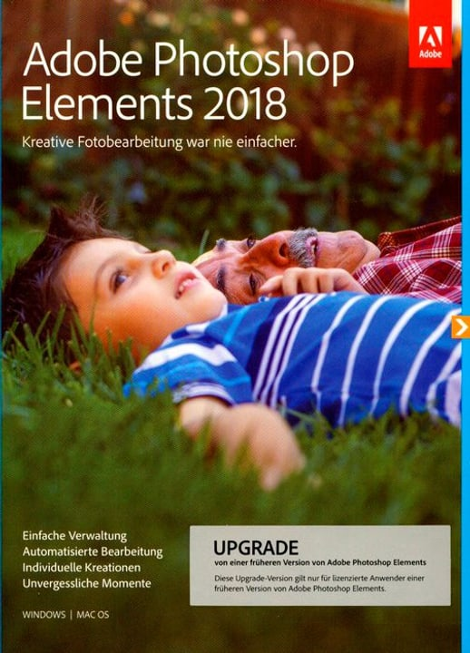 PC/Mac - Photoshop Elements 2018 Upgrade (D) Physique (Box) Adobe 785300130255 Photo no. 1
