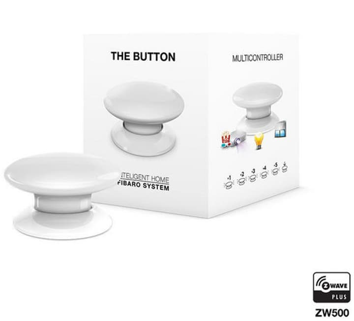 Z-Wave Button blanche Bouton intelligent Fibaro 785300132237 Photo no. 1