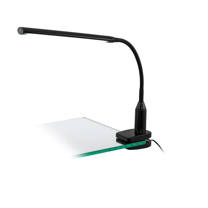 LED lampada tavolo con pinza Laora, nero Eglo 615060200000 N. figura 1