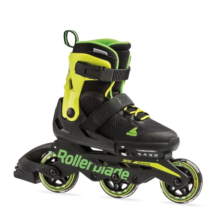 Microblade 3WD Kids-Inline Rollerblade 492399428020 Colore nero Taglie 28-32 N. figura 1