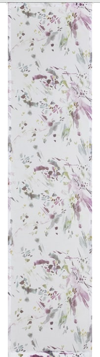 LINDA Flächenvorhang 430582430446 Farbe Lila Grösse B: 60.0 cm x H: 245.0 cm Bild Nr. 1