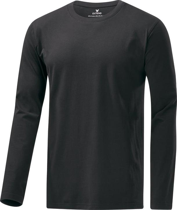 LONGSLEEVE U-NECK Shirt pour homme Extend 462408100420 Couleur noir Taille M Photo no. 1