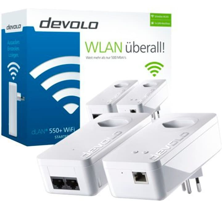 dLAN 550+ WiFi Starter Kit dLAN 550+ WiFi Starter Kit devolo 798228600000 Photo no. 1