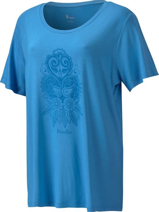 Damen-T-Shirt Perform 464921705042 Farbe azur Grösse 50 Bild-Nr. 1